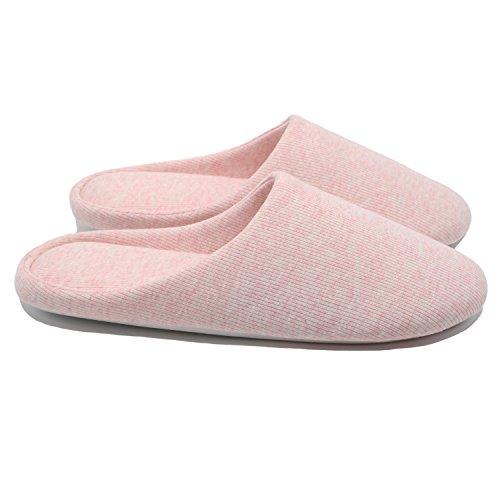 ofoot Pantofole da Donna, Scarpe Antiscivolo in Cotone Lavabile con Memory Foam