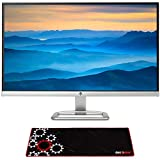 Hewlett Packard T3M88AA#ABA 27er 27-Inch 16:9 IPS LED Backlit 1920 x 1080 PC Computer Monitor Silver Bundle with Deco Gear Large Extended Pro Gaming Mouse Pad Water Resistant Non-Slip
