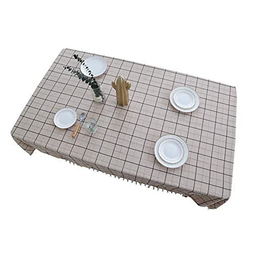 N&G Family Life Equipment Mantel a Cuadros Algodón y Lino Bordado a Cuadros Rectangular Mesa de Comedor Cubierta de Mesa Mantel de Tela (Tamaño: 120 * 120 cm)