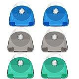 EIKLNN 6 Piezas Soporte para Afeitadora, Soporte para Maquinilla de Afeitar con Ventosa, Soporte de Plástico para Pared Baño de Afeitar, para Almacenamiento de Maquinillas de Afeitar