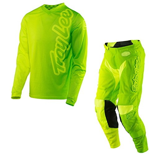 Troy Lee Designs - GP Air 50/50 Yellow & Green Jersey/Pant Combo - Size LARGE/32W