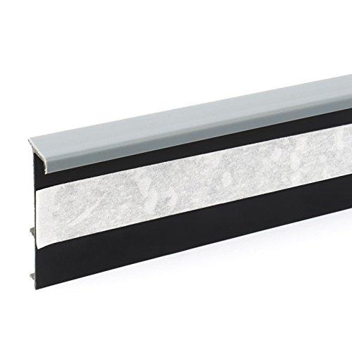 2,5m TEPPICHLEISTEN 50mm GRAU Kettelleisten aus Kunststoff Fussbodenleiste Laminat Dekore Parkett Scheuerleiste