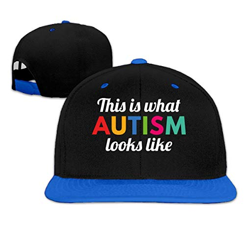 Dit is wat Autism Looks Like Hip Hop Snapback Baseball Hat Adjustable Men Blue