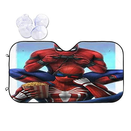 Spiderman Pare-soleil de voiture UV pour pare-brise de voiture Protection contre le gel neige glace par tous les temps Taille L