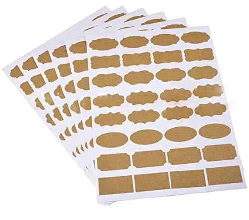 Etiquetas Adhesivas Kraft Rectangulares Marca XUMIN