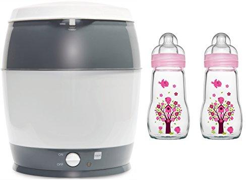 MAM primamma Set - 2 x MAM Glasflasche 260ml primamma Vaporisator + Geschenk für Mädchen