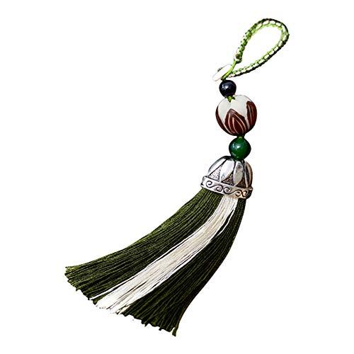 Scrox 1x Llavero Forma Creativa del Piña Colgante Difusor Aromaterapia Aceites Esenciales Hueco Cadena de Clave Mujer Bolsos Regalo para Decoración (Verde Oscuro)