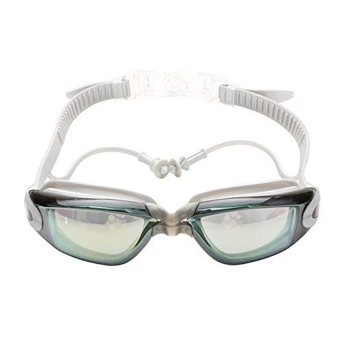 OWEM Schwimmbrille bunt Pool Ohrstöpsel Profi UV Silikon Sand Wasserdicht Schwimmbrille Taucherbrille für Erwachsene 4