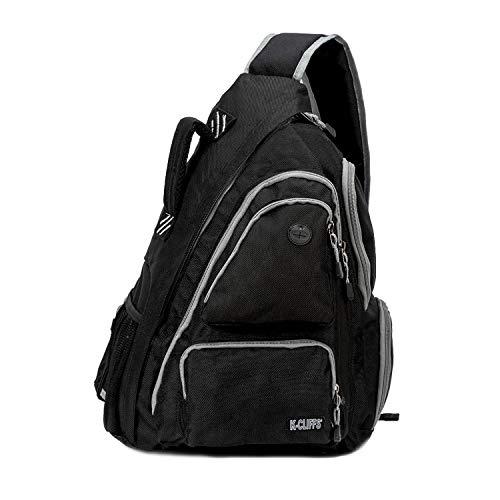 Heavy Duty Sling Laptop Backpack | Cross Body Messenger Bag | Ballistic Nylon Water Resistant