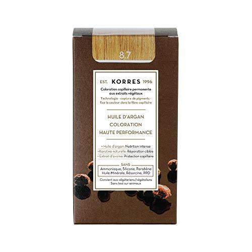 Korres Argan Öl hochentwickelte Coloration, toffee 8.7, 1er Pack (1 x 145 ml)