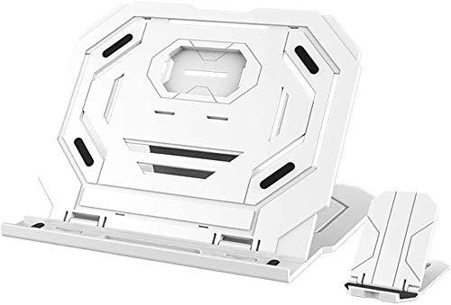 MYXMY Laptop Stand de refrigeración de Escritorio de elevación Plataforma Lenovo ASUS Apple aumentó la Base del sostenedor Plegable (Color : White)
