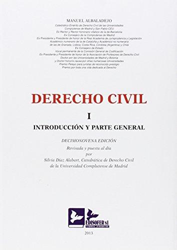 DERECHO CIVIL I. O.VARIAS