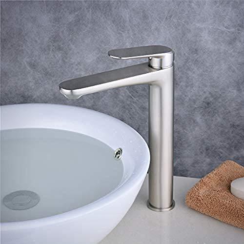 Einhand-Waschtischarmatur Einhand-Waschtischarmatur Hot and Cold Verstellbarer Waschtischmischer, Nickel gebürstet