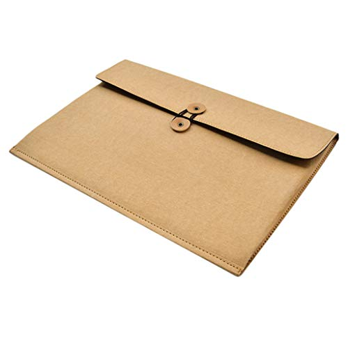 chiwanji Premium Kraft Paper Holder Bills Storage Pouch School Office Supplies