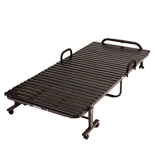 アイリスプラザ ベッド すのこ すのこベッド スノコ 折りたたみ 折りたたみすのこベッド シングル シングルベッド シングルサイズ FDBB-9939 ブラウン すのこ31枚タイプ