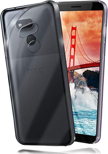 moex Aero Hülle kompatibel mit HTC Desire 12s - Hülle aus Silikon, komplett transparent, Klarsicht Handy Schutzhülle Ultra dünn, Handyhülle durchsichtig einfarbig, Klar