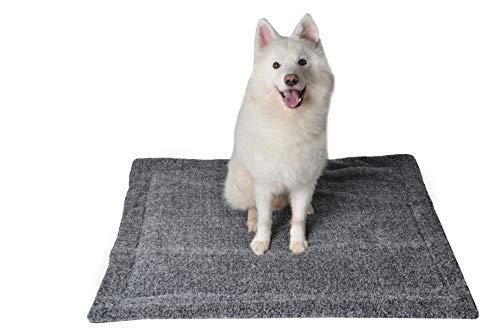 RAIKOU Hundedecke Katzendecke Haustier-Decke mit Plüsch Kissen Fleece-Decke/Tier Schlafdeck Hundebett Haustierbett, waschbar und rutschfest(Grau Melange,80x60cm)