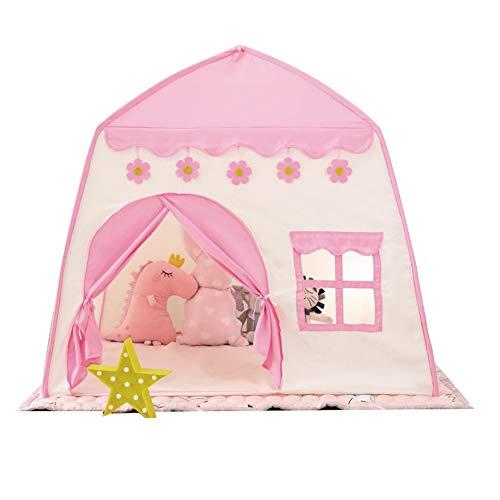 Tienda de campaña para juegos de castillo de princesas convenientemente configurada y almacenada, tus hijos disfrutarán de esta tienda plegable para uso en interiores y exteriores, 130 x 100 x 130 cm.