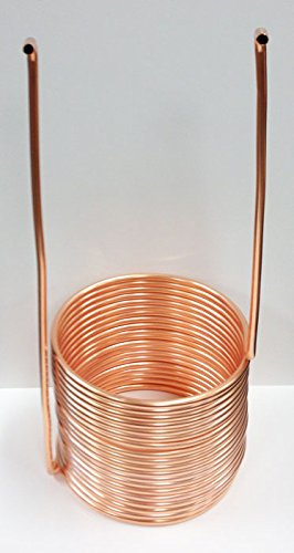 """Quick Chill Home Brew Copper Immersion Wort Chiller, 50' X 3/8"""""""