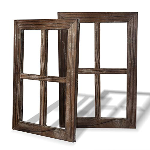 Rustic Wall Decor-Home Decor Window Barnwood Frames -Room Decor for Home or Outdoor, Not For Pictures, Set of 2