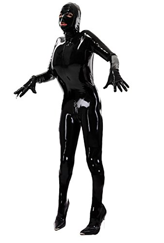 Queenshiny® lycra pieno corpo costume zentai nero (xl)