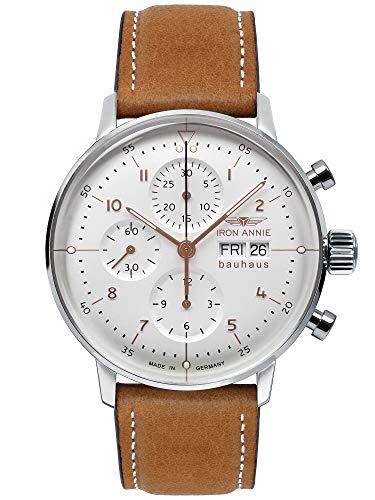 Iron Annie Bauhaus Chronograph Watch Swiss ETA 7750 Automatic Sil Dial 5018-4