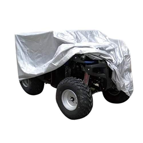 Telo Copriauto Impermeabile ATV Car Cover Heavy Duty UV-Protection copertura dell automobile copertura copertura totale for ATV Quad UTVs Impermeabile (Color : Silver)