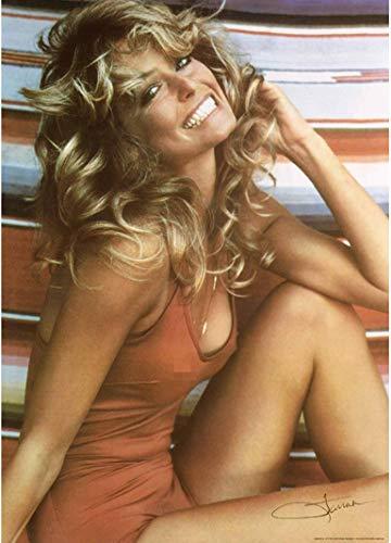 Kopoo Farrah Fawcett 1976 Iconic Bathing Suit Poster, 24x36