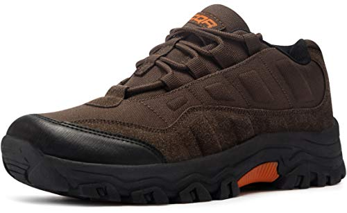 CQR CLSL Men's Outdoor Hiking Running Tactical Utility EDC Trekking Training Shoes, Tac Shoes(bl203) - Brown, 12