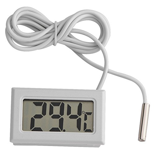 VBESTLIFE LCD-Digital-Thermometer, Mini-Temperaturmessgerät Sonde Sensor Digital LCD-Thermometer