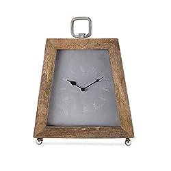 Imax 14670 Leesy Table Clock, Brown