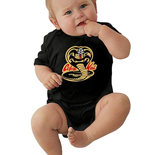 Yaxinduobao Body de algodón Unisex para bebé 1-24 Months Baby Short Sleeve Creeper Jumpsuit Cobra Kai Karate Dojo Elegant and Simple Design Black