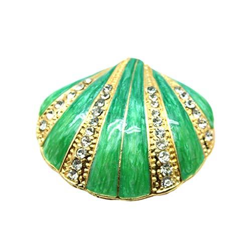 JOYKK Openklapbaar juwelendoosje voor meisjes, handgemaakte sieradendoosjes van schelp voor vrouwen