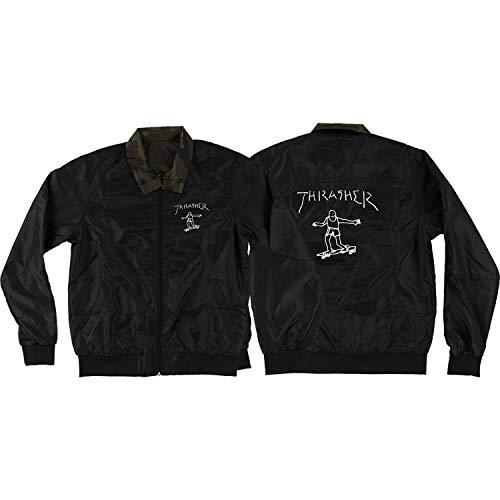 Thrasher Magazine Gonz Reversible Black/Camo Coaches Jacket - Medium