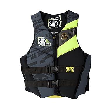 Body Glove Women's Phantom U.S. Coast Guard Approved Neoprene PFD Life Vest, Lemon/Black, X-Large