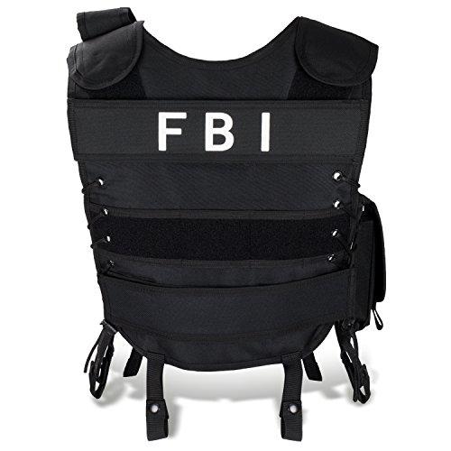 FBI Einsatzweste taktische Weste schwarz Paintball Softair Gotscha Brustschutz BlackSnake® - M/L - FBI