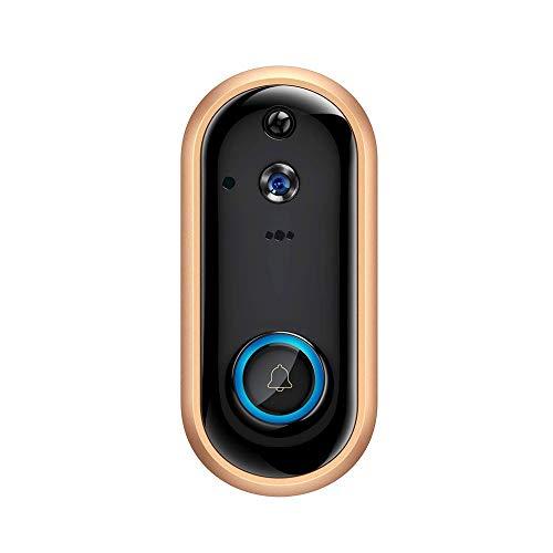 Inteligente WiFi puerta Bell video, cámara 1080P Wireless Home vigilancia de la seguridad de la batería recargable con la alarma de detección de movimiento de la nube de almacenamiento de visión noctu