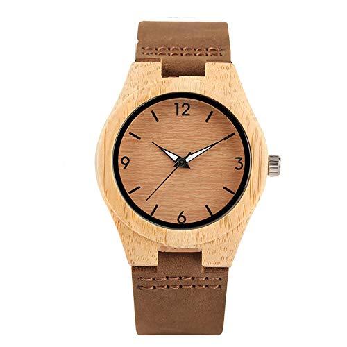 Reloj de Madera Relojes de Pulsera de Madera para Mujer Relojes MinimalistasReloj Femenino para niña