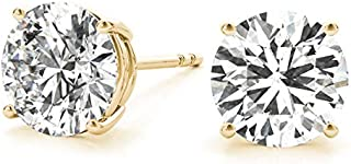 Sponsored Ad - IGI Certified (1/5th Carat -1.00 cttw, F-G Color, VS1-VS2 Clarity, Push Back) 14K White Gold or Yellow Roun...