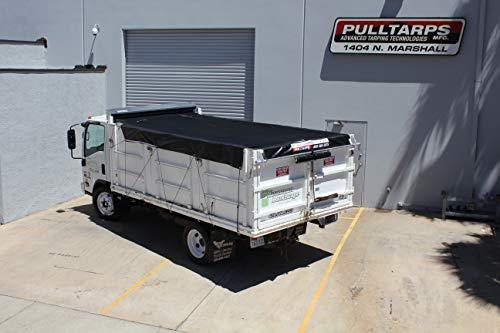 Pulltarps EZ Fit X-Pando Semi-Automatic Tarp System for Dump Trucks, Trailers, & Landscaping