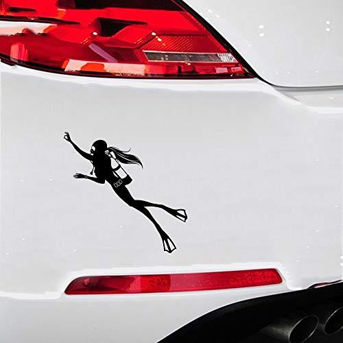 Auto Aufkleber Der 16,8x16,4 Cm Spezielle Aufkleber Mit Tauchen Bewegung Comic-figuren Der Taucherin Aufkleber Für Auto Laptop Fenster Aufkleber