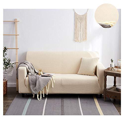 Topashe Funda de Sofá Elástica Punto,Funda de sofá con Todo Incluido, Funda de sofá Simple-Creamy-White_145-185cm,Sillón Elastano Fundas de Sofá
