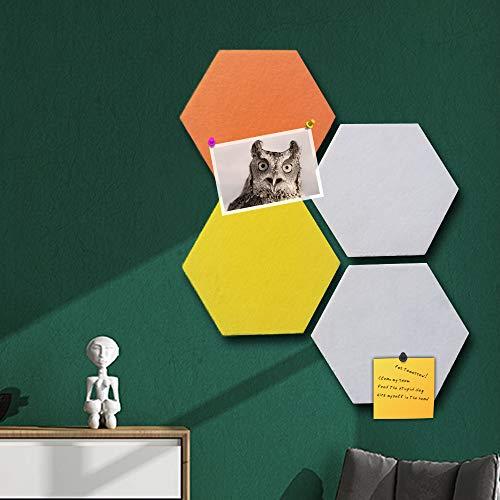 Vilt Cork Memo Board Tegels Stickers, muur Bulletin Board Zeshoek Pin Board w/Zelfklevend om foto's Memos Display Board Pads Afbeeldingen Tekenen Doelpunten Opmerkingen Kleurrijke Schuim muur Decoratieve D