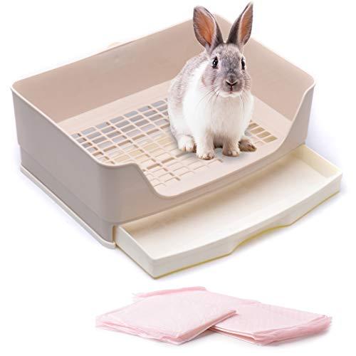 CalPalmy Large Rabbit Litter Box with 4 Bonus Ultra...