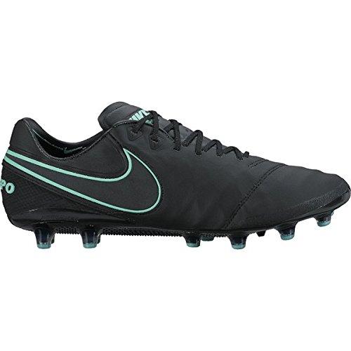 Nike Tiempo Legend VI AG de Pro Fútbol guantes, 103 WHITE/BLACK-ELECTRO GREEN