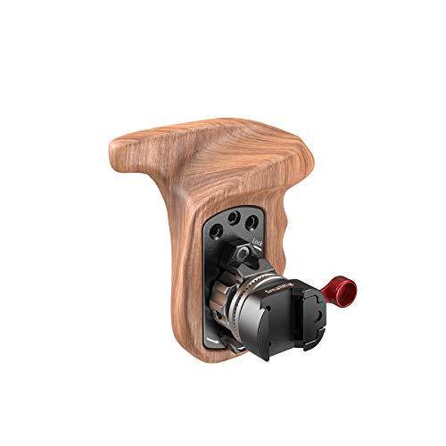 SMALLRIG Wooden Handle mit Holz Rosettengriff (Links) und NATO Rail Clamp für Kamera Cage und Schultergestell -2118