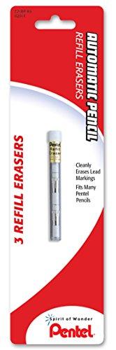 Pentel Mechanical Pencil Eraser Refills, Z21, 3/Tube, PK - PENZ21