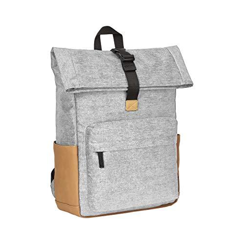 AmazonBasics – Rolltop-Rucksack mit Diebstahlschutz, grau
