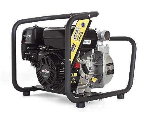 Briggs & Stratton Hochleistungs & Tragbare Benzin Rieinwasserpumpe mit 21 000 l/h Förderleistung ✦ 40m Wasserhub ✦ 3600 U/min Viertakt-Benzinmotor und enthaltenem Zubehör, von WASPPER (WP20-B)