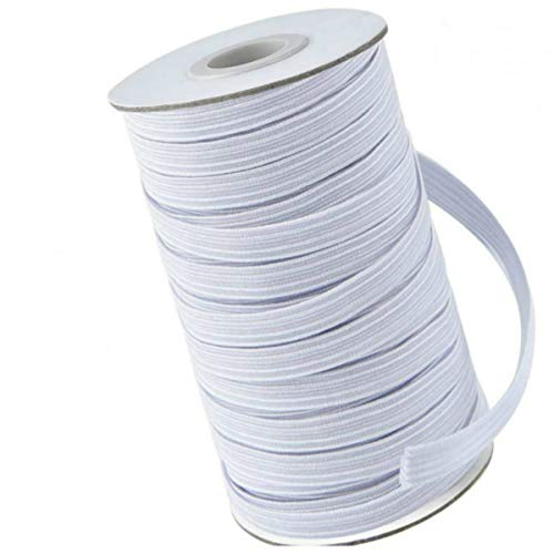 Elastic Bands for Masks, 100 Yards 1/4 Inch Width Braided Stretch Cord for DIY Sewing